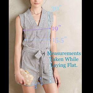 Anthropologie 'WHIT Two' Tilley Petite Romper Sz 4